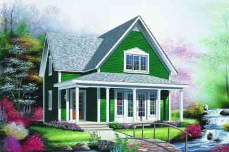 Cottage Exterior - Front Elevation Plan #23-598 - Houseplans.com