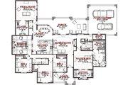 European Style House Plan - 4 Beds 2.5 Baths 3568 Sq/Ft Plan #63-326 Floor Plan - Main Floor Plan
