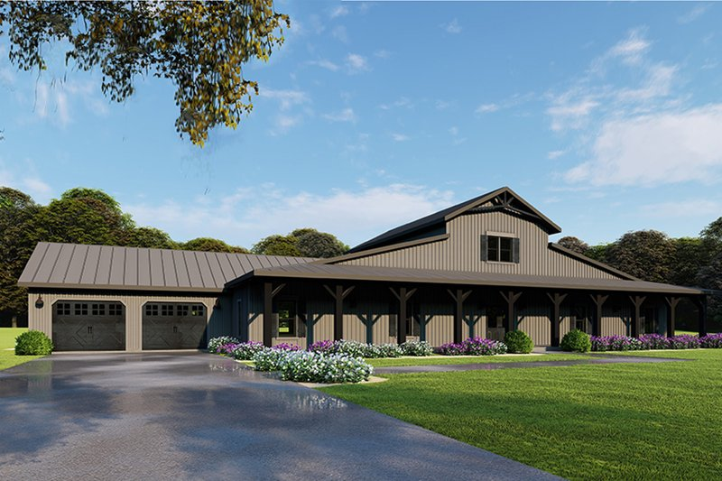 Farmhouse Style House Plan - 5 Beds 3.5 Baths 3277 Sq/Ft Plan #923-114 Exterior - Front Elevation