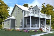Farmhouse Style House Plan - 4 Beds 3 Baths 2713 Sq/Ft Plan #63-400 Exterior - Front Elevation