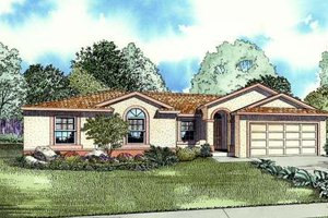 Mediterranean Exterior - Front Elevation Plan #420-108