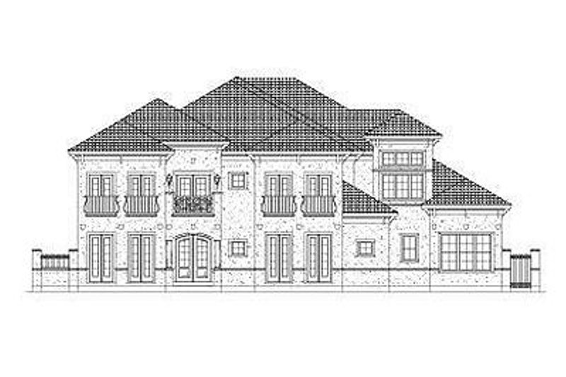 European Style House Plan - 4 Beds 4.5 Baths 6222 Sq/Ft Plan #411-842 Exterior - Front Elevation