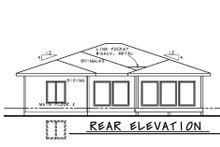 Dream House Plan - Contemporary Exterior - Rear Elevation Plan #20-2439