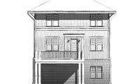 Craftsman Style House Plan - 3 Beds 3 Baths 3735 Sq/Ft Plan #926-5 Exterior - Rear Elevation