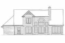 House Blueprint - Traditional Exterior - Rear Elevation Plan #72-379