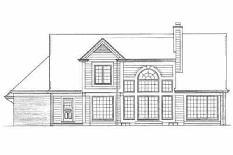 Traditional Exterior - Rear Elevation Plan #72-379 - Houseplans.com