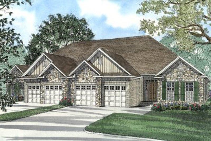 Dream House Plan - European Exterior - Front Elevation Plan #17-1085
