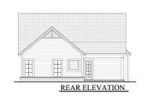 Cottage Exterior - Rear Elevation Plan #430-25