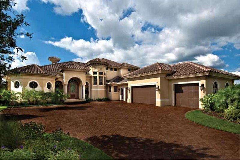 House Plan Design - Mediterranean Exterior - Front Elevation Plan #930-440