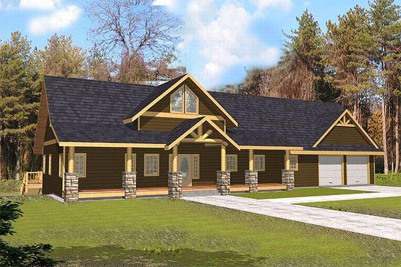 Architectural House Design - Craftsman Exterior - Front Elevation Plan #117-472