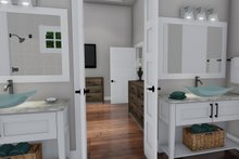 Farmhouse Interior - Master Bathroom Plan #120-255