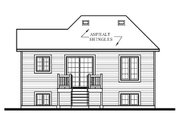 European Style House Plan - 2 Beds 1 Baths 816 Sq/Ft Plan #23-307 Exterior - Rear Elevation
