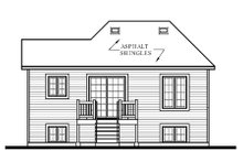House Plan Design - European Exterior - Rear Elevation Plan #23-307