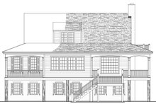 Southern style home, Country design, rear elevation