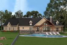 Craftsman Exterior - Rear Elevation Plan #119-366
