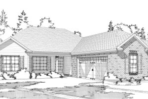 Traditional Exterior - Front Elevation Plan #63-312