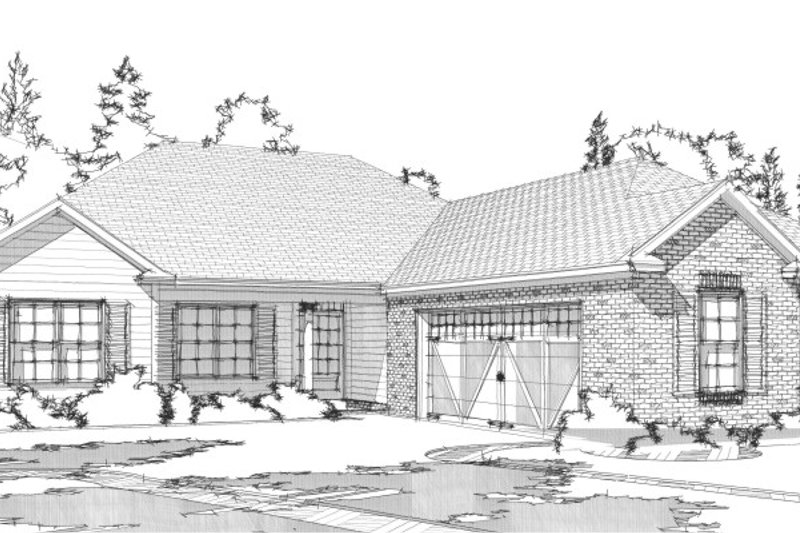 Traditional Style House Plan - 4 Beds 2 Baths 1636 Sq/Ft Plan #63-312 Exterior - Front Elevation