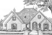 European Style House Plan - 4 Beds 4 Baths 2537 Sq/Ft Plan #310-373 Exterior - Front Elevation
