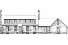 Colonial Exterior - Rear Elevation Plan #72-297