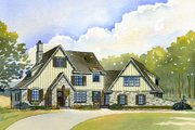 Tudor Style House Plan - 4 Beds 3.5 Baths 3498 Sq/Ft Plan #901-99 Exterior - Front Elevation