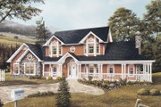 Farmhouse Style House Plan - 5 Beds 3.5 Baths 2828 Sq/Ft Plan #57-135 Exterior - Front Elevation