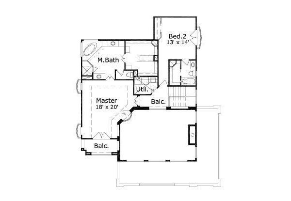Mediterranean Floor Plan - Other Floor Plan Plan #411-240