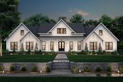 Farmhouse Style House Plan - 4 Beds 3.5 Baths 3086 Sq/Ft Plan #430-222 Exterior - Front Elevation
