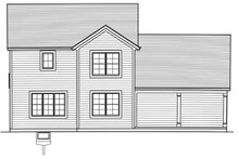 Architectural House Design - Traditional Exterior - Rear Elevation Plan #46-890