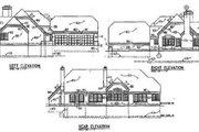 European Style House Plan - 3 Beds 2.5 Baths 2029 Sq/Ft Plan #50-169 Exterior - Rear Elevation