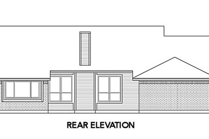 Cottage Exterior - Rear Elevation Plan #84-490 - Houseplans.com