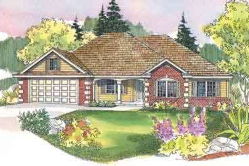 Ranch Style House Plan - 4 Beds 2 Baths 2195 Sq/Ft Plan #124-489 Exterior - Front Elevation