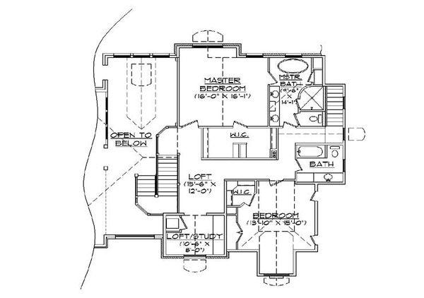 Home Plan - Craftsman Floor Plan - Upper Floor Plan #5-378