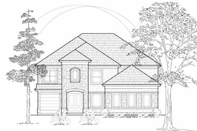 European Exterior - Front Elevation Plan #61-271