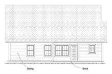 Dream House Plan - Cottage Exterior - Rear Elevation Plan #513-2063