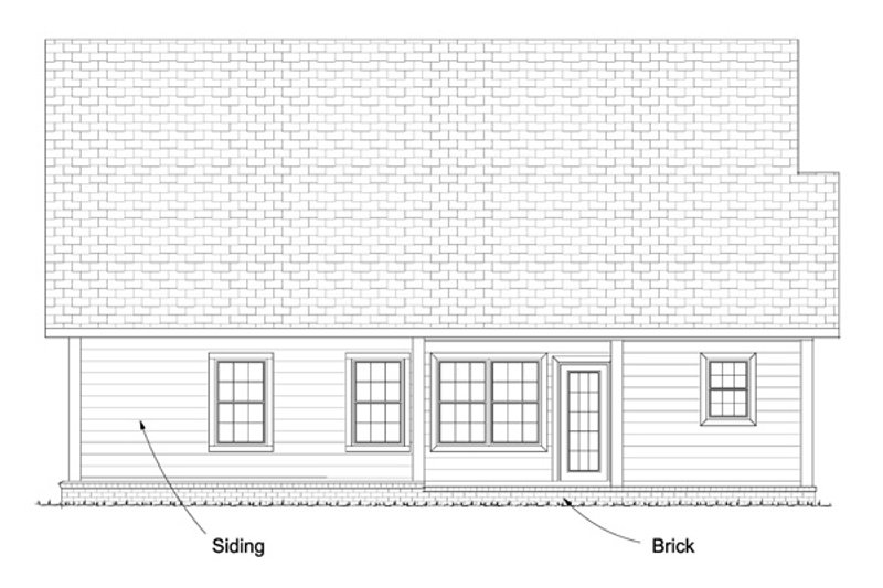 Cottage Exterior - Rear Elevation Plan #513-2063 - Houseplans.com