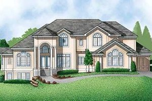 Mediterranean Exterior - Front Elevation Plan #67-170