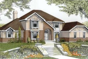 Dream House Plan - European Exterior - Front Elevation Plan #87-206