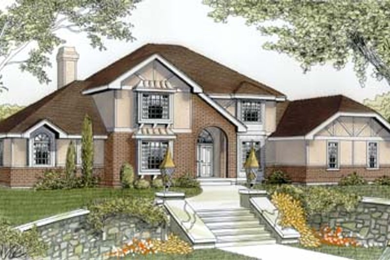 Dream House Plan - European Exterior - Front Elevation Plan #87-206