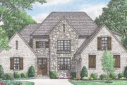 European Style House Plan - 4 Beds 3 Baths 3191 Sq/Ft Plan #34-231 Exterior - Front Elevation