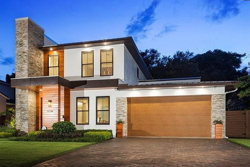 Architectural House Design - Contemporary Exterior - Front Elevation Plan #1058-180