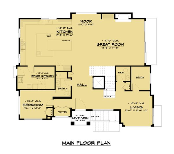 Architectural House Design - Modern Floor Plan - Main Floor Plan #1066-105