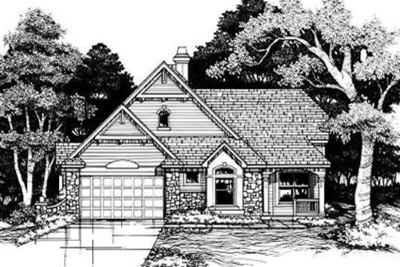 Traditional Exterior - Front Elevation Plan #50-172