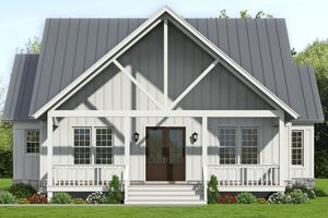 Country Exterior - Front Elevation Plan #932-359