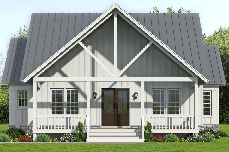 Dream House Plan - Country Exterior - Front Elevation Plan #932-359