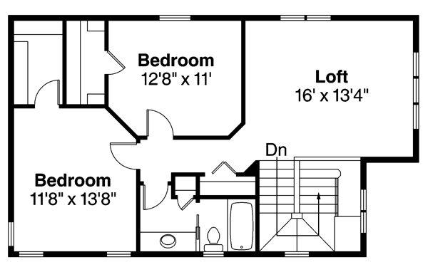 Floor Plan - Upper Floor Plan Plan #124-878
