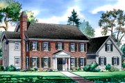 Traditional Style House Plan - 4 Beds 4.5 Baths 4250 Sq/Ft Plan #490-15 Exterior - Front Elevation