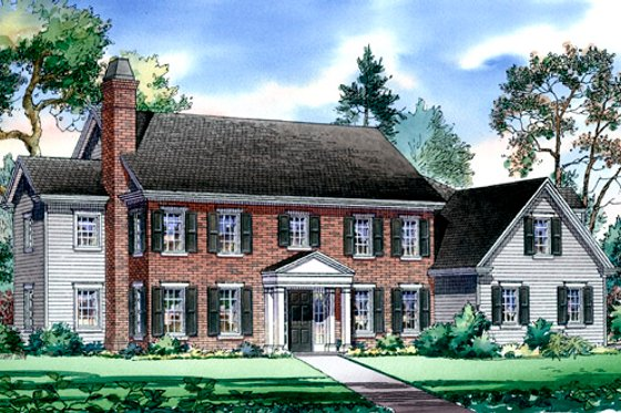 Traditional Exterior - Front Elevation Plan #490-15