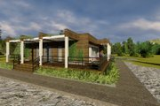 Modern Style House Plan - 3 Beds 1 Baths 1059 Sq/Ft Plan #549-1 Exterior - Other Elevation