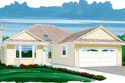 Traditional Style House Plan - 3 Beds 2 Baths 1726 Sq/Ft Plan #47-460 Exterior - Front Elevation