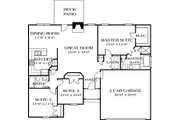 Traditional Style House Plan - 3 Beds 2 Baths 1383 Sq/Ft Plan #453-41 Floor Plan - Main Floor Plan